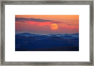 Super Moon At Sunrise Framed Print