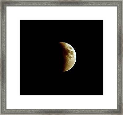 Super Moon Eclipse 2015 Framed Print by Diana Angstadt
