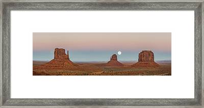 Super Moon In Monument Valley Framed Print by Jon Glaser