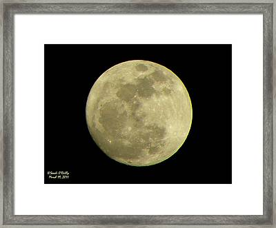 Super Moon March 19 2011 Framed Print by Sandi OReilly