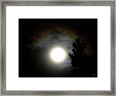 Super Moon Over British Columbia Framed Print by Will Borden