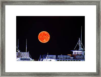 Framed Print featuring the photograph Super Moon Over Crazy Sister Marina by Bill Barber