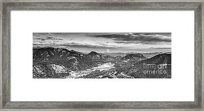 Super Moon Rising From Rainbow Curve Overlook - Trail Ridge Road Rocky Mountain National Park  Framed Print