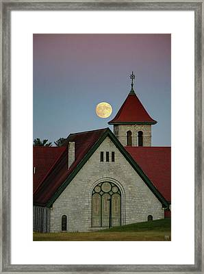 Super Moon Rising Framed Print