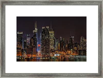 Super Moon Rising Framed Print by Susan Candelario