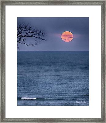Super Moon Waning Framed Print