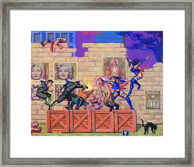 Super Ninja Saga  Framed Print by Luiz Teles