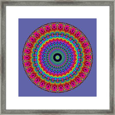 Super Rainbow Mandala Framed Print