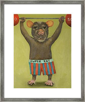 Super Rat 2 Framed Print by Leah Saulnier The Painting Maniac