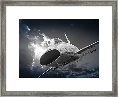 Super Sabre Rolling In On The Target Framed Print