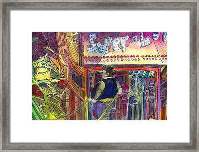 Super Scooper Ride Framed Print by Mindy Newman