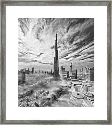 Super Skyline Framed Print