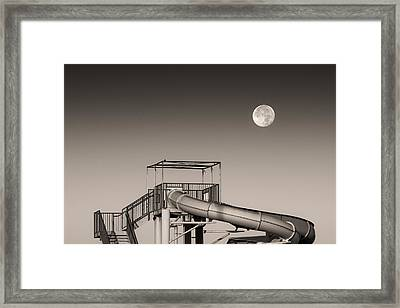 Super Slider Moon Framed Print by Don Spenner