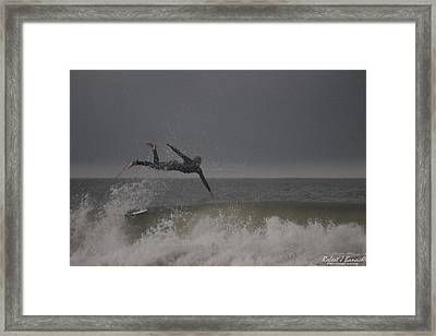 Super Surfing Framed Print