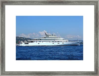 Super Yacht Framed Print