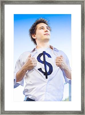 Superannuation Man Framed Print