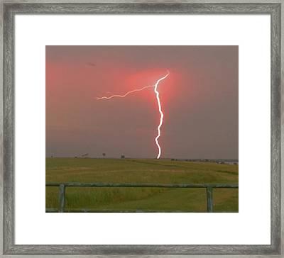 Superbolt On The Prairie Framed Print