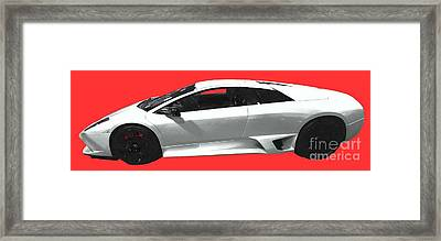 Supercar In White Art Framed Print