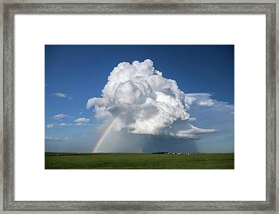 Supercell Rainbow Framed Print by James Hammett