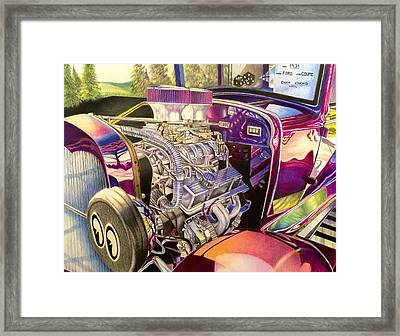 Supercharged Antique 1931 Ford Coupe  Framed Print