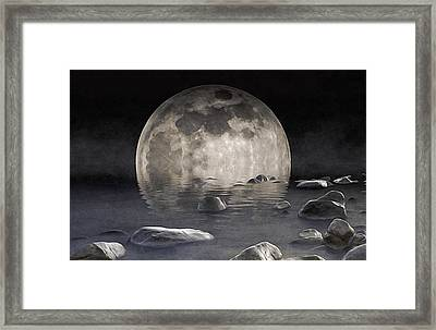 Superfluous Moon Framed Print