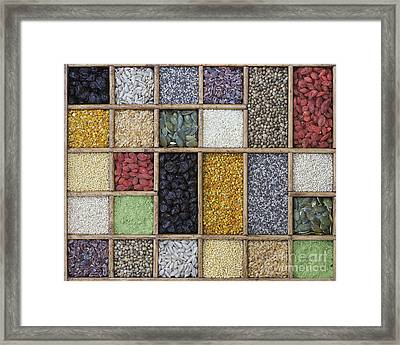 Superfoods Framed Print by Tim Gainey