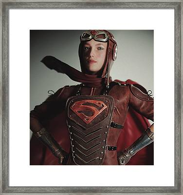 Supergirl Air Force 1944 Framed Print