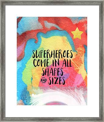 Superheroes- Inspirational Art By Linda Woods Framed Print by Linda Woods