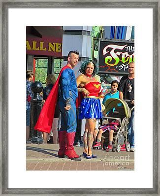 Superheros Framed Print