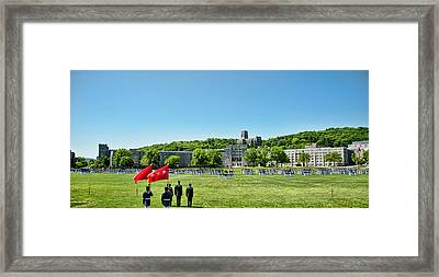 Superintendent's Review Wide Angle Framed Print