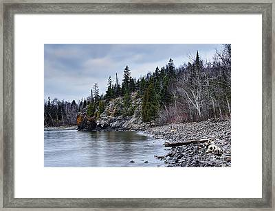 Framed Print featuring the photograph Superior Cliffs by Larry Ricker