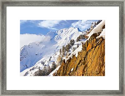 Superior Peak In The Utah Wasatch Mountains  Framed Print by Douglas Pulsipher