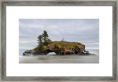 Superior Shores Framed Print