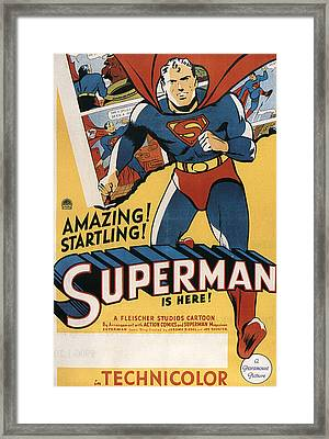 Superman, 1941 Framed Print by Everett