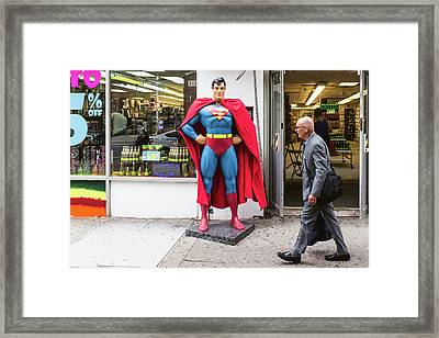 Superman And Lex Luthor Framed Print by Bautista NY