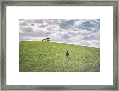 Superman And The Big Hill Framed Print
