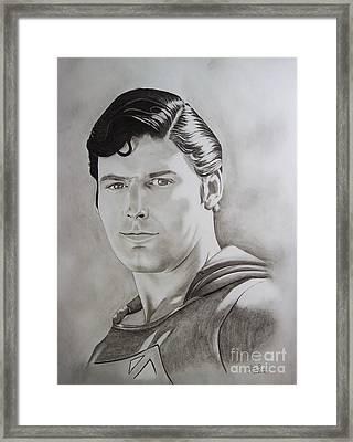 Superman Circa 2007 Framed Print by Lise PICHE