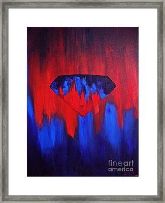 Superman Framed Print by Herschel Fall