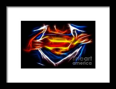 Man Of Steel Framed Prints
