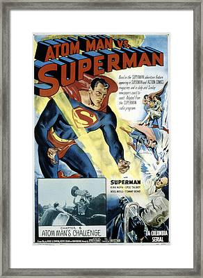 Superman, Serial, Kirk Alyn, Chapter 6 Framed Print by Everett