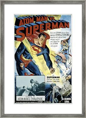 Superman, Serial, Kirk Alyn, Chapter 6 Framed Print