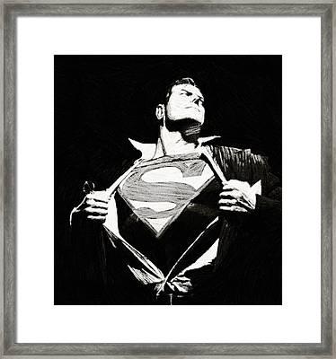 Superman Framed Print by Egor Vysockiy