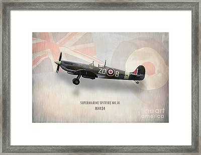 Supermarine Spitfire Mk.ix Mh434 Framed Print by J Biggadike