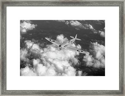 Framed Print featuring the photograph Supermarine Spitfire Prototype K5054 Black And White Version by Gary Eason