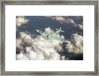 Framed Print featuring the photograph Supermarine Spitfire Prototype K5054 by Gary Eason