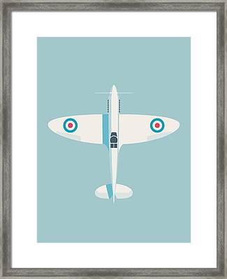 Supermarine Spitfire Raf Fighter Plane - Sky Framed Print