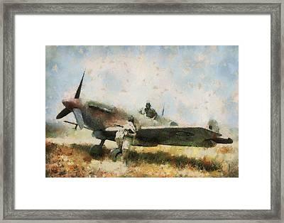 Supermarine Spitfire Tunisia Framed Print by Esoterica Art Agency