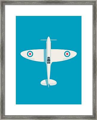 Supermarine Spitfire Wwii Raf Fighter Aircraft Framed Print by Ivan Krpan