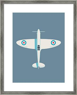 Supermarine Spitfire Wwii Raf Royal Air Force Fighter Aircraft - Slate Framed Print
