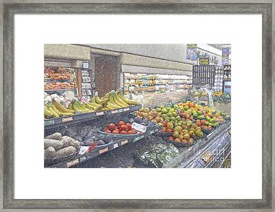 Framed Print featuring the photograph Supermarket Produce Section by David Zanzinger